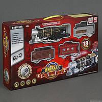 Железная дорога 3052 (12) свет, звук, 18 деталей, на батарейках, в коробке