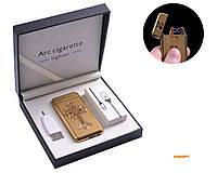 """USB зажигалка в подарочной упаковке """"Chrome Hearts"""" (Электроимпульсная - две перекрещенные молнии) №4779-2"""