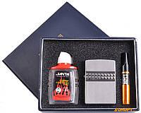 Подарочный набор 3в1 Зажигалка, бензин, мундштук №4723-2
