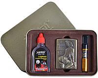 Подарочный набор SEXY 3в1 Зажигалка, бензин, мундштук №4713-6