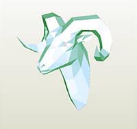 Полигональная модель Козлик в подарочной упаковке, фото 1
