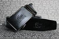Lacoste ремень мужской кожаный