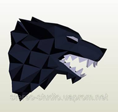 Полигональная модель Волк в подарочной упаковке