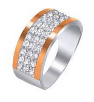 Кольцо из серебра с цирконием, фото 1