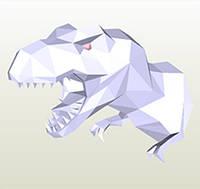 Полигональная модель Динозавр в подарочной упаковке, фото 1