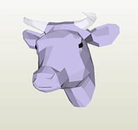 Полигональная модель Коровка в подарочной упаковке, фото 1