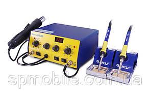 Паяльная станция BAKU BK-603D фен + 2 паяльника, металлический корпус