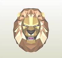 Полигональная модель Король-Лев в подарочной упаковке, фото 1