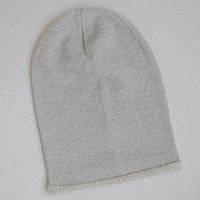 Детская шапка бини. Серый с люрексом Размеры: 46-48, 56-58 см