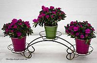 Кованая подставка для цветов Мостик малый
