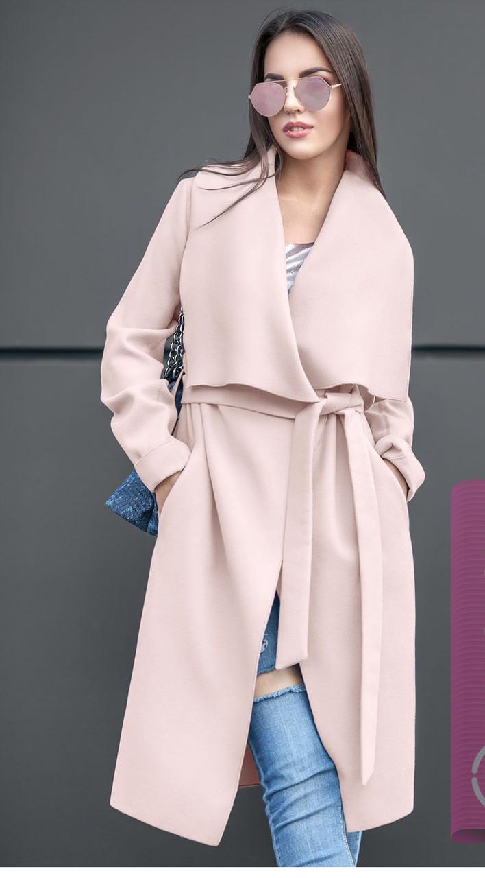 973f435498a Легкое пальто -плащ демисезонное из кашемира - Модный магазин в Киевской  области