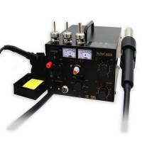 Паяльна станція Ya Xun YX-909 паяльник,фен у блоці з регулюванням і блоком живлення 15V 1A