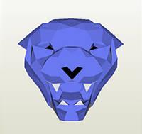 Полигональная модель Пантера в подарочной упаковке, фото 1