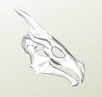Полигональная модель Череп Дракона в подарочной упаковке, фото 1