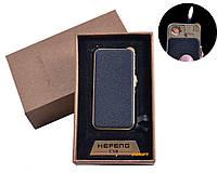 """USB + газовая зажигалка в подарочной упаковке (спираль накаливания, нормальное пламя) """"Black"""" №4818-4"""