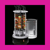 Электрошашлычница Domotec BBQ (Домотек) 6 шампуров вертикальная!Опт