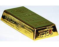 Зажигалка карманная слиток золота (острое пламя) №2859