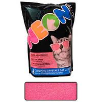 Neon Litter Clump НЕОН комкующийся кварцевый наполнитель, неоновый розовый
