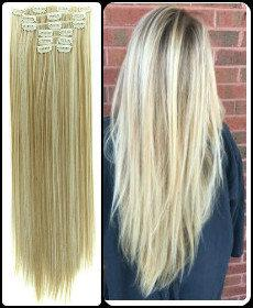 Волосы ТЕРМо на заколках 7 прядей 55см №16н613 мелирование