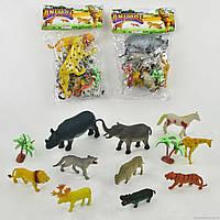 Набор диких животных А 586-6 (96) 10 шт, 2 вида, в кульке