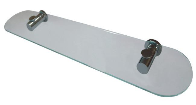Полка стеклянная Aqualine ( хром )