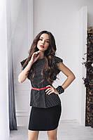 Костюм, Ткань блузы-костюмка Юбка турецкий стрейчевый джинс, с выточками( как на фото)2 цвета ркот №189