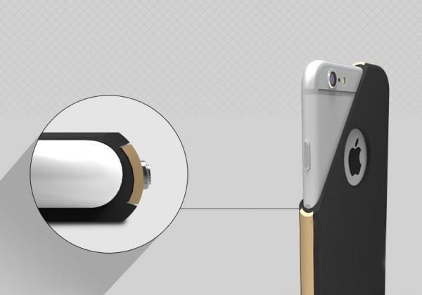 TPU чехол с подставкой для iphone 6 plus / 6s plus
