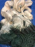 Сеть рыболовная 3м трехстенная kaida 80м ячейка 60мм усиленная