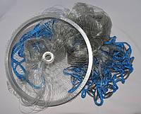 Кастинговая сеть Американка с кольцом диаметр 4,5 метра, высота 1,9 метра, леска яч. 12 мм
