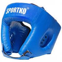 Шлем боксёрский для единоборств ММА арт. ОД2 синий М