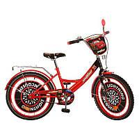 Велосипед детский мульт 20д. CS201 ТЧ,красно-черный,зеркало,звонок