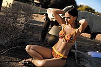 Яркий купальник женский на большую грудь F05 451