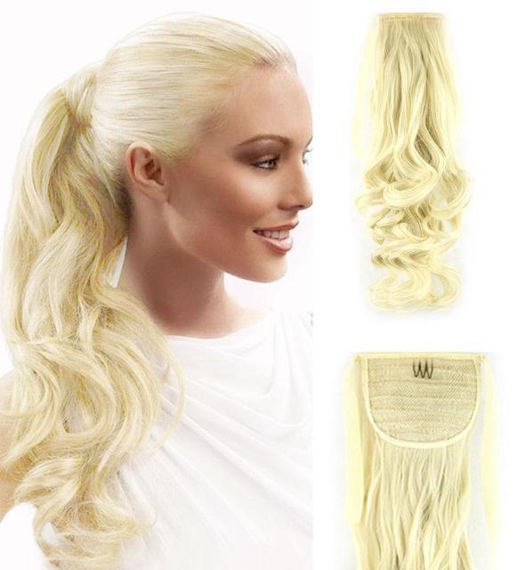 Хвост шиньон из искусственных волос 50см №613