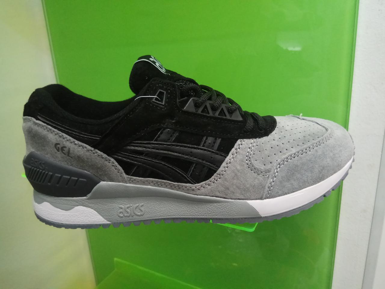 Женские кроссовки Asics Gel серые с черным