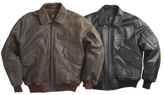 Кожаные куртки Alpha Industries