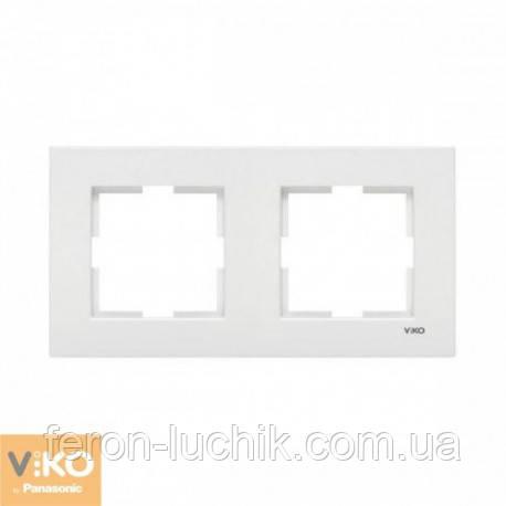 Рамка 2-а біла ViKO Karre горизонтальна, вертикальна