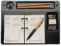 Подставка под календарь, с отделениями, пластиковая, черная, КиП, ПКУ-05, 510678