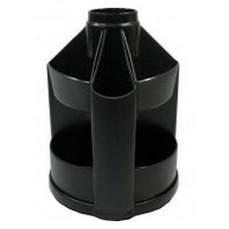 Органайзер настольный, пластиковый, черный, Вертушка малая, КиП, ОВ-23, 510333