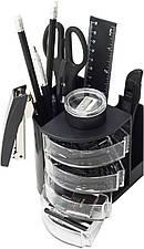 Офисный набор настольный, пластиковый, 14 предметов, черный, Buromax, BM.6306-01, 100660
