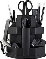 Офисный набор настольный, пластиковый, 16 предметов, черный, Jobmax, Buromax, BM.6302-01, 370101