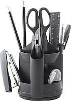 Офисный набор настольный, пластиковый, 13 предметов, черный, Jobmax, Buromax, BM.6300-01, 370123