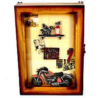 Ключница настенная мотоцикл деревянная 729041SB