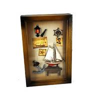 Ключница на стену в морском стиле Парусник 05BS-0055