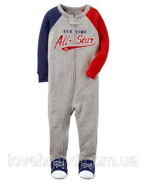 Человечек 1-Piece All-Star Snug Fit Cotton PJs Carter's для мальчика синий