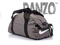 Спортивная мужская сумка NIKE GRAY серая, фото 1