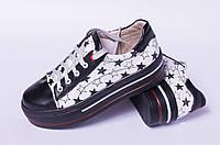 Подростковые кеды кожаные, обувь детская от производителя модель ДЖ1704