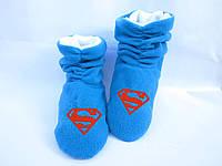 Тапочки  ботинки Супермен / домашние тапочки детские