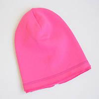 Однослойная детская шапка бини с начесом. Малиновый. Размеры: 46-48, 48-50, 50-52 см