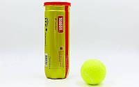 Мячи для большого тенниса TELOON T818P3 Z-COURT (3 шт)