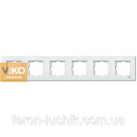 Рамка 6-я біла ViKO Karre горизонтальна, вертикальна